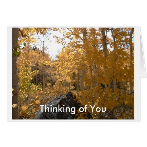 Pensamiento en usted Notecard Tarjeta Pequeña