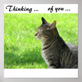 Pensamiento… en usted… poster