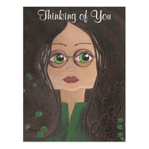 Pensamiento en usted postal de la hiedra de Quantu