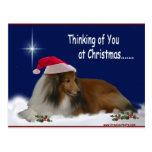 Pensamiento en usted postal del navidad