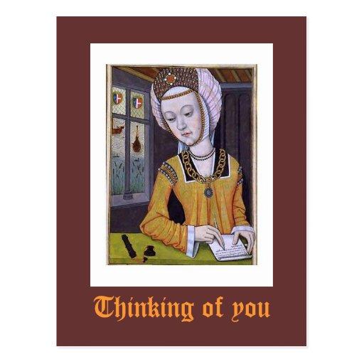 Pensamiento en usted postales
