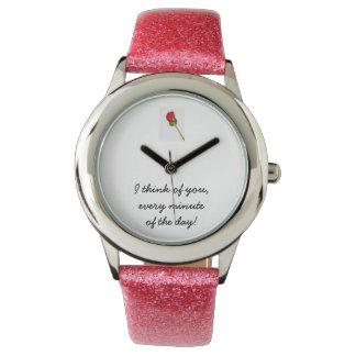Pensamiento en usted relojes de mano