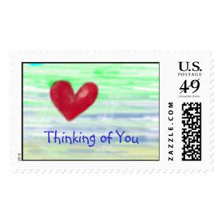 Pensamiento en usted sello postal