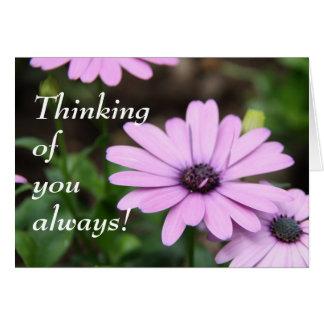 ¡Pensamiento en usted siempre! Tarjeta Pequeña