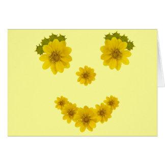 Pensamiento en usted sonrisa tarjeta de felicitación