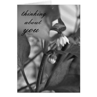Pensamiento en usted tarjeta de felicitación