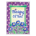 Pensamiento en usted - tarjeta de felicitación
