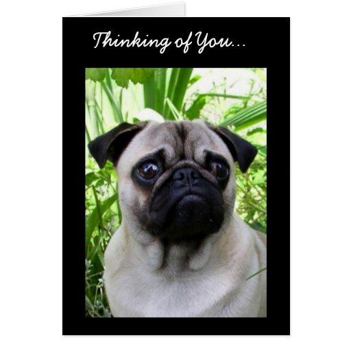 Pensamiento en usted tarjeta de felicitación del b