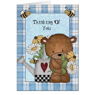 Pensamiento en usted tarjeta de felicitación del o