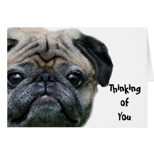 Pensamiento en usted tarjeta de felicitación del p