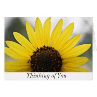 Pensamiento en usted tarjeta de nota