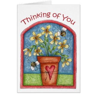 Pensamiento en usted - tarjeta de nota