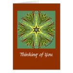 Pensamiento en usted tarjeta del caleidoscopio
