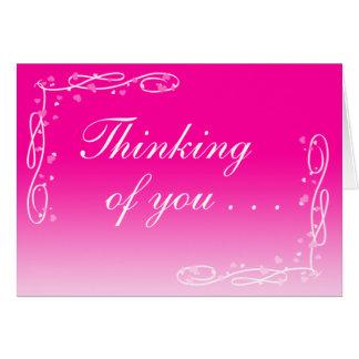 Pensamiento en usted tarjeta (espacio en blanco de