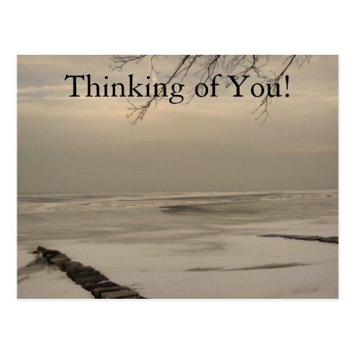 ¡Pensamiento en usted! Tarjeta Postal
