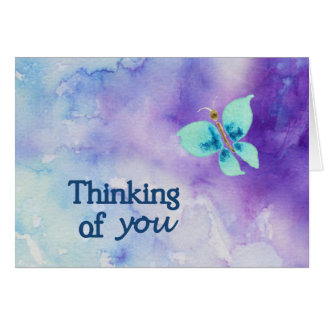 Pensamiento en usted tarjetas de nota de la