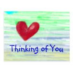 Pensamiento en usted tarjetas postales