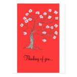 Pensamiento en usted tarjetas tarjeta postal