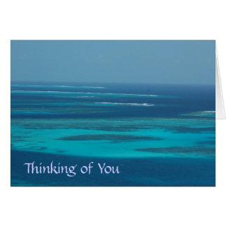 Pensamiento en usted - Trinidad y Tobago Cayes Tarjeta De Felicitación