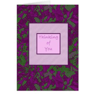 Pensamiento en usted (UCB) - resplandor púrpura Tarjetón