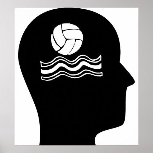 Pensamiento en water polo posters