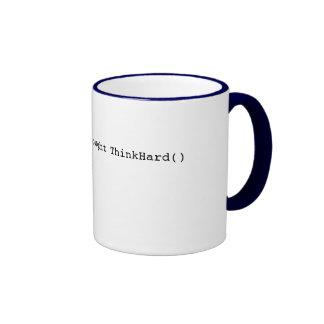 pensamiento estático público ThinkHard () Taza De Café