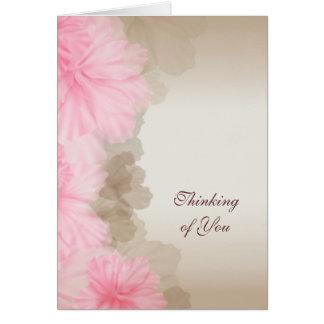 Pensamiento floral en usted tarjeta pequeña
