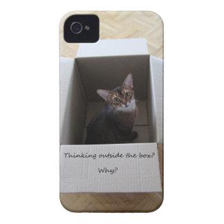 Pensamiento fuera de la caja Case-Mate iPhone 4 cobertura