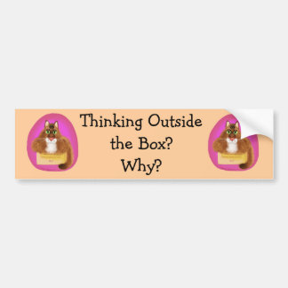 ¿Pensamiento fuera de la caja - por qué? Pegatina Para Auto