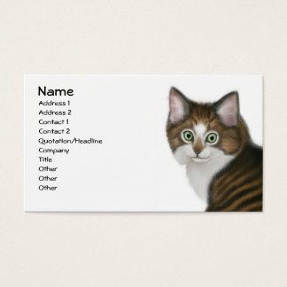 Pensamiento la tarjeta de visita del gatito