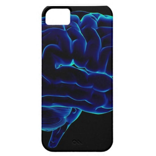 pensamiento libre del cerebro iPhone 5 Case-Mate cobertura