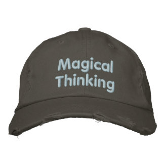 Pensamiento mágico gorros bordados