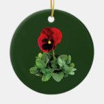 Pensamiento marrón ornaments para arbol de navidad
