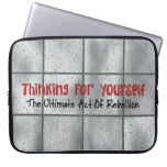 Pensamiento para sí mismo funda computadora