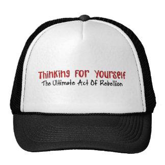 Pensamiento para sí mismo gorra