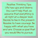 Pensamiento positivo poster