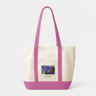 Pensamiento púrpura - Cheerfulness Bolsa Tela Impulso