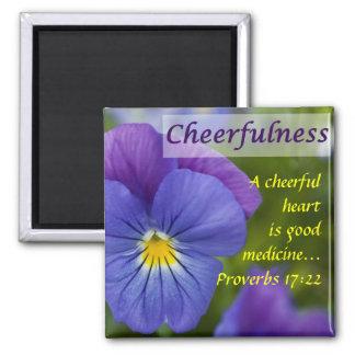 Pensamiento púrpura - Cheerfulness Imán Cuadrado
