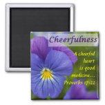 Pensamiento púrpura - Cheerfulness Imanes