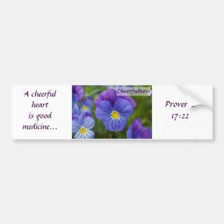 Pensamiento púrpura - Cheerfulness Pegatina Para Auto
