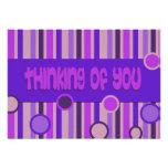 pensamiento púrpura en usted comunicados personalizados