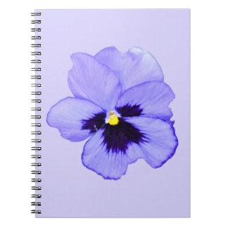 Pensamiento púrpura libreta espiral