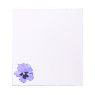 Pensamiento púrpura libreta para notas