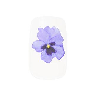 Pensamiento púrpura pegatina para uñas