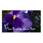 Pensamiento púrpura plantilla de tarjeta personal