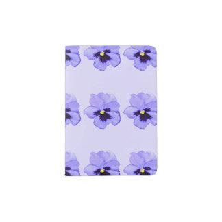 Pensamiento púrpura porta pasaporte
