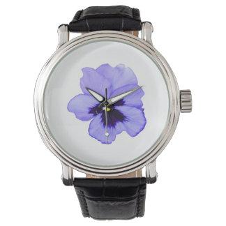 Pensamiento púrpura relojes