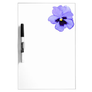 Pensamiento púrpura tablero blanco