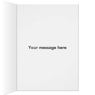 Pensamiento púrpura tarjeta de felicitación