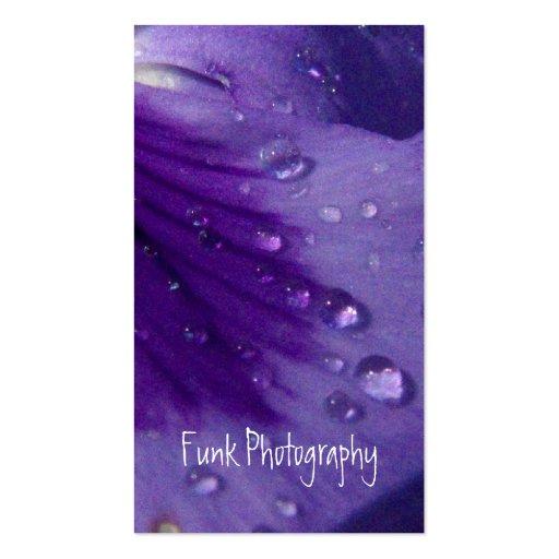 Pensamiento púrpura tarjeta de negocio